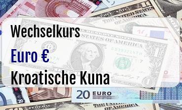 Euro in Kroatische Kuna