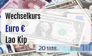 Euro in Lao Kip