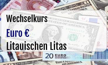 Euro in Litauischen Litas