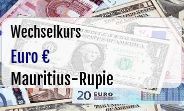 Euro in Mauritius-Rupie