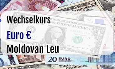 Euro in Moldovan Leu