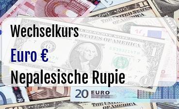 Euro in Nepalesische Rupie
