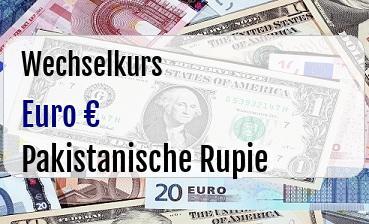 Euro in Pakistanische Rupie