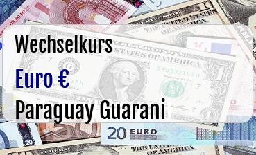 Euro in Paraguay Guarani