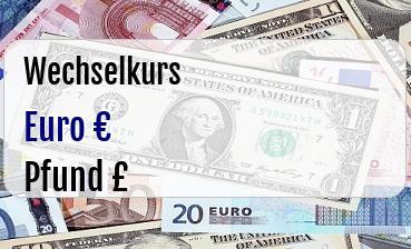 Euro in Britische Pfund