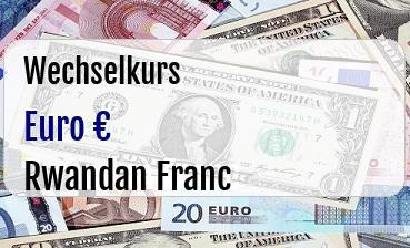 Euro in Rwandan Franc