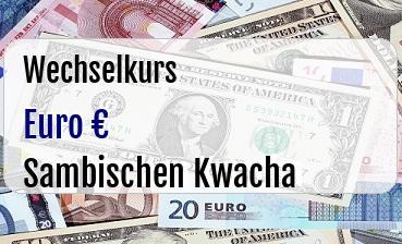 Euro in Sambischen Kwacha