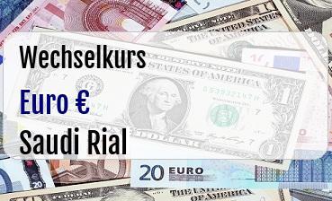 Euro in Saudi Rial