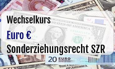 Euro in Sonderziehungsrecht SZR