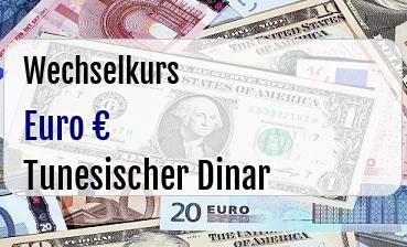 Euro in Tunesischer Dinar