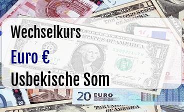 Euro in Usbekische Som