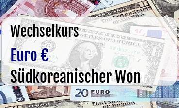 Euro in Südkoreanischer Won