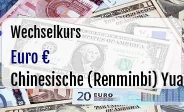 Euro in Chinesische (Renminbi) Yuan