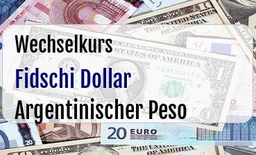 Fidschi Dollar in Argentinischer Peso