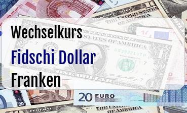 Fidschi Dollar in Schweizer Franken