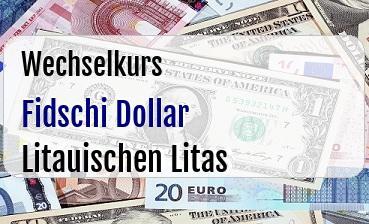 Fidschi Dollar in Litauischen Litas