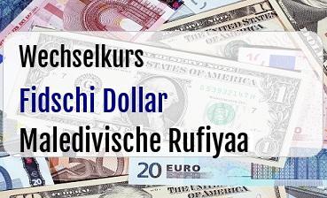 Fidschi Dollar in Maledivische Rufiyaa