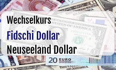 Fidschi Dollar in Neuseeland Dollar