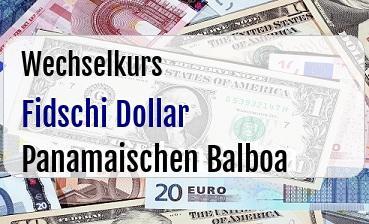 Fidschi Dollar in Panamaischen Balboa