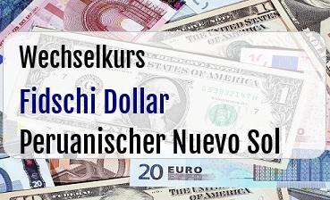 Fidschi Dollar in Peruanischer Nuevo Sol