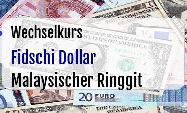 Fidschi Dollar in Malaysischer Ringgit