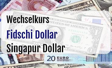 Fidschi Dollar in Singapur Dollar