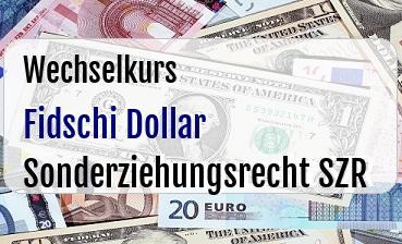 Fidschi Dollar in Sonderziehungsrecht SZR