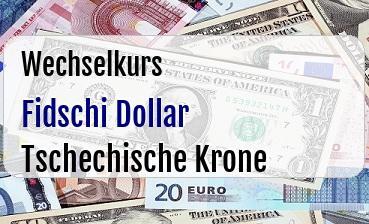 Fidschi Dollar in Tschechische Krone