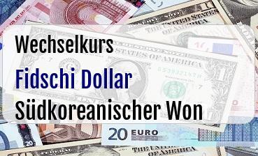 Fidschi Dollar in Südkoreanischer Won
