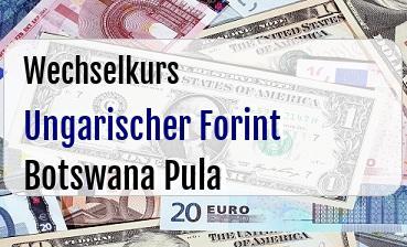 Ungarischer Forint in Botswana Pula