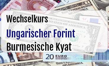 Ungarischer Forint in Burmesische Kyat