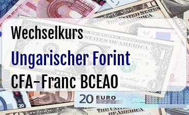 Ungarischer Forint in CFA-Franc BCEAO