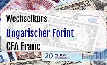 Ungarischer Forint in CFA Franc