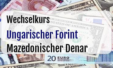 Ungarischer Forint in Mazedonischer Denar