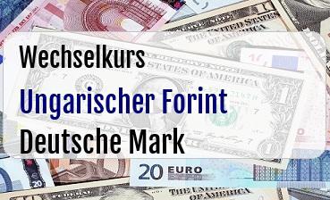 Ungarischer Forint in Deutsche Mark