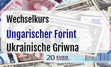 Ungarischer Forint in Ukrainische Griwna