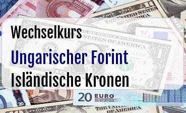 Ungarischer Forint in Isländische Kronen