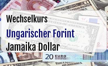Ungarischer Forint in Jamaika Dollar