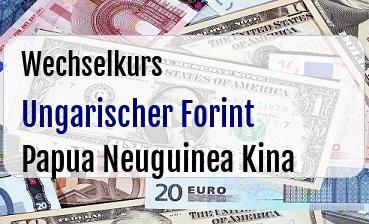 Ungarischer Forint in Papua Neuguinea Kina