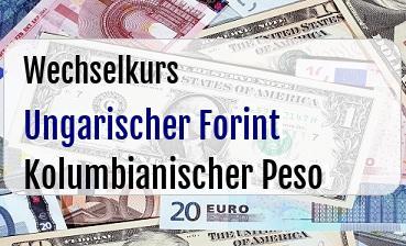 Ungarischer Forint in Kolumbianischer Peso