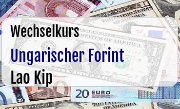 Ungarischer Forint in Lao Kip