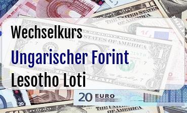 Ungarischer Forint in Lesotho Loti