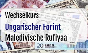 Ungarischer Forint in Maledivische Rufiyaa