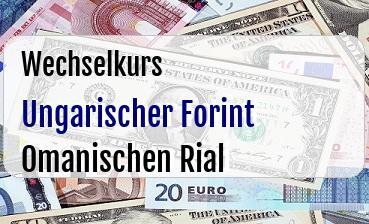 Ungarischer Forint in Omanischen Rial
