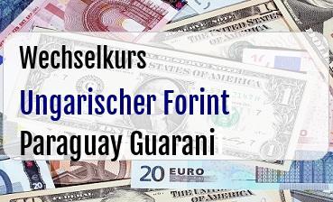 Ungarischer Forint in Paraguay Guarani