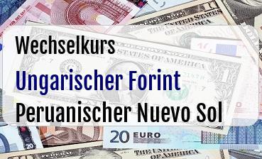 Ungarischer Forint in Peruanischer Nuevo Sol
