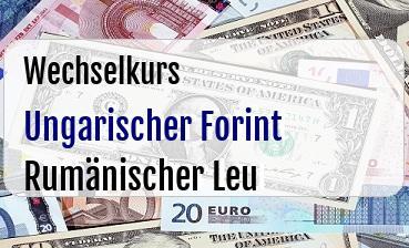 Ungarischer Forint in Rumänischer Leu