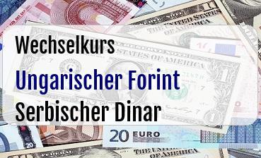 Ungarischer Forint in Serbischer Dinar