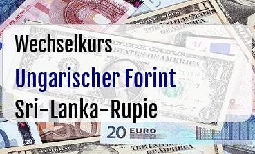 Ungarischer Forint in Sri-Lanka-Rupie