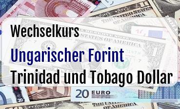 Ungarischer Forint in Trinidad und Tobago Dollar